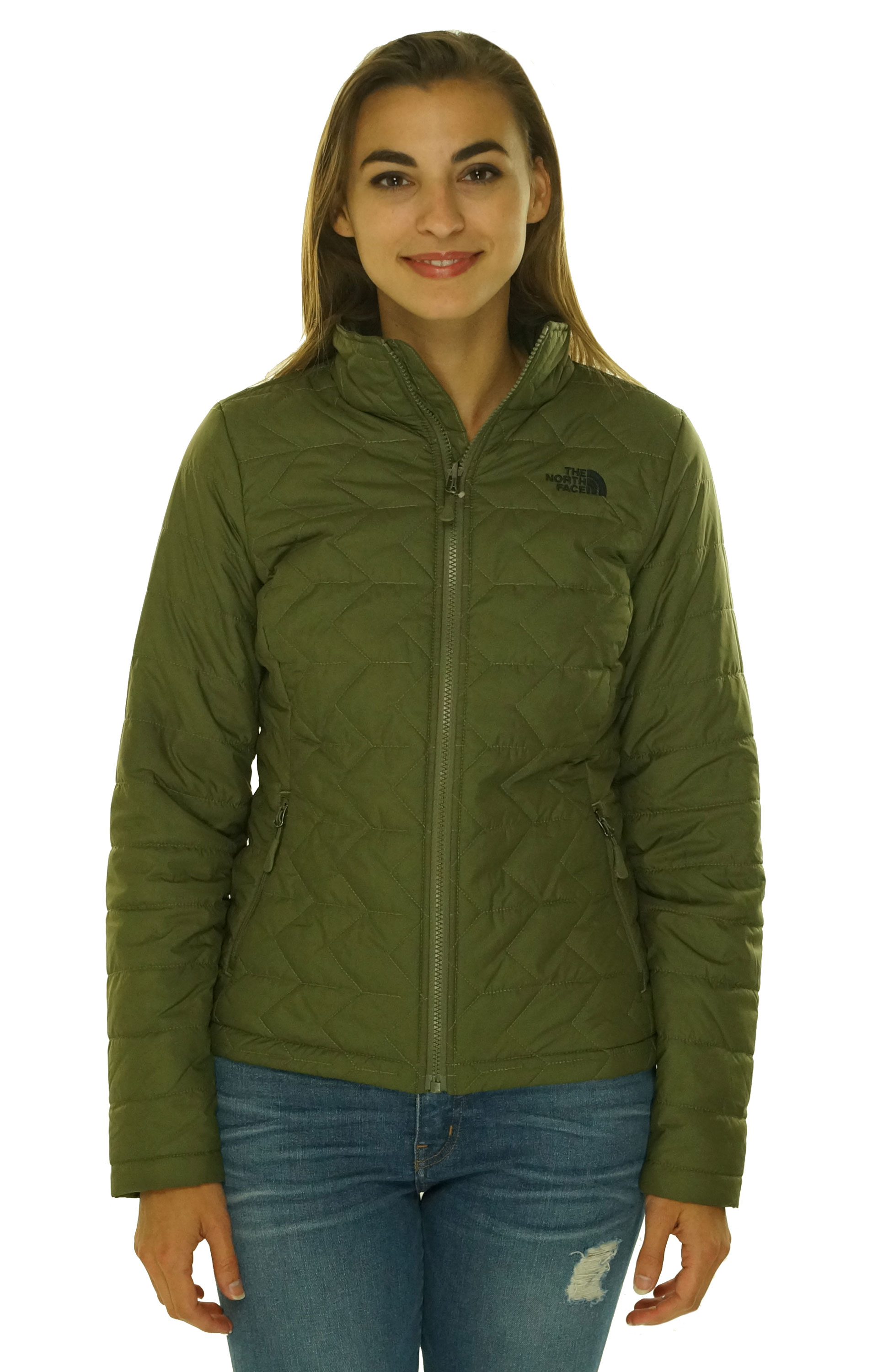The North Face Womens Tamburello Insulated Quilted Jacket Olive